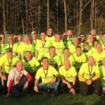 Alle Finisher in der Abendsonne